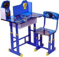 Wood Wizard Engineered Wood Study Table (Finish Color - Blue)