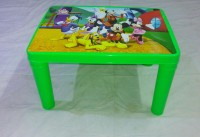 KHUSHI-PLAY KIDS G1200 Plastic Activity Table (Finish Color - Green)