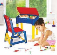 NILKAMAL Plastic Study Table (Finish Color - RED/BLUE/YEL)