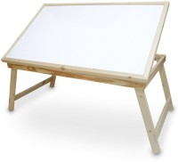 Skys & Ray Table Top With White Marker Board Solid Wood Study Table (Finish Color - Walnut Brown)