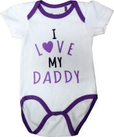 Starsy Romper For Baby Boys & Baby Girls White & Purple