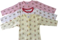 Magic Train T- Shirt For Baby Boys & Baby Girls Pink, Pack Of 3