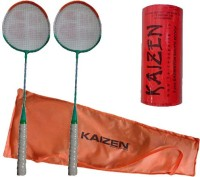 Kaizen 2 Badminton Racket With Racket Cover And Badmintonshuttlecock Badminton Kit