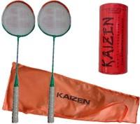 Kaizen 2 Badminton Racket With Racket Cover And Badmintonshuttlecock Badminton Kit