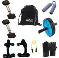 Krazy Fitness Exercise Equipments With 2 Pc. 5 Kg Hexagonal Dumbells Gym & Fitness Kit