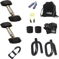 Krazy Fitness Exercise Combo With 2 Pc 5 Kg Hexagonal Dumbbells Gym & Fitness Kit