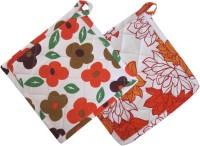 Smart Home Orange, Orange Cotton Kitchen Linen Set Pack Of 2