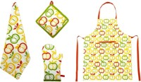 Cotonex Printed Cotton Kitchen Linen Set Multicolor, Pack Of 9