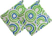 Smart Home Green, White Cotton Kitchen Linen Set Pack Of 2 - KLSEBGYZFFMSH7DA
