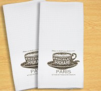 R Home White Cotton Kitchen Linen Set Pack Of 2