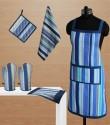 Dekor World Playing With Stripes Kitchen Linen Set - KLSDVYHXXBCWY8HE