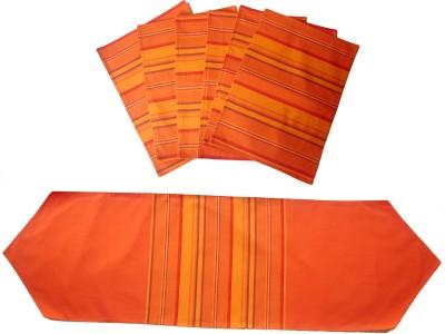 Homeblendz Dining Cotton Kitchen Linen Set Multicolor, Pack Of 7