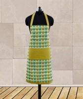 Dekor World Green Cotton Kitchen Linen Set Pack Of 1