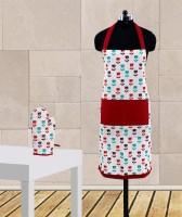 Dekor World Maroon Cotton Kitchen Linen Set Pack Of 2