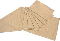 Homeblendz Beige, White Cotton Kitchen Linen Set Pack Of 7