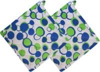 Smart Home Green, White Cotton Kitchen Linen Set Pack Of 2