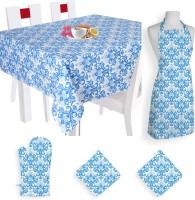 Smart Home Textile Self Design Cotton Kitchen Linen Set Multicolor, Pack Of 5 - KLSE8YSYHK92FFTF