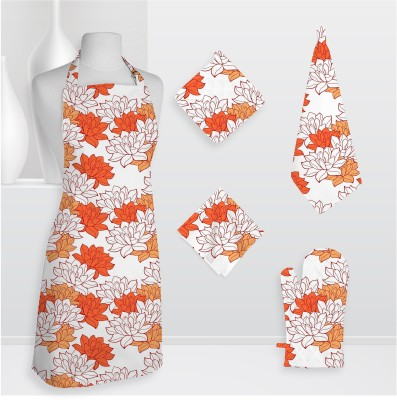 Smart Home Textile Smt Kls Cotton Kitchen Linen Set Orange, Pack Of 5 - KLSE6Z8MUUBHZFWZ