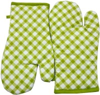 Tidy Light Green, White Cotton Kitchen Linen Set Pack Of 2