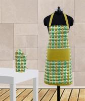 Dekor World Green Cotton Kitchen Linen Set Pack Of 2