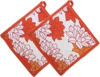 Smart Home Orange, White Cotton Kitchen Linen Set Pack Of 2 - KLSEBGYPQNZSCHEY