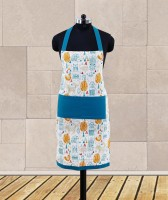 Dekor World Blue Cotton Kitchen Linen Set Pack Of 1