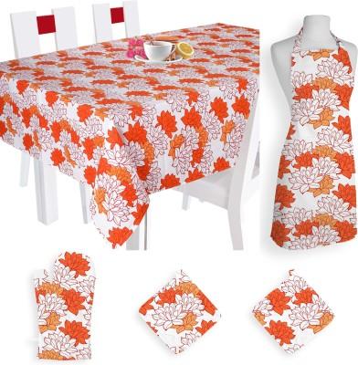 Smart Home Textile Self Design Cotton Kitchen Linen Set Multicolor, Pack Of 5 - KLSE8YSYAKGSQJFH