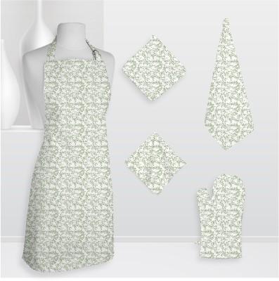 Smart Home Textile Smt Kls Cotton Kitchen Linen Set Green, Pack Of 5
