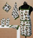 Dekor World World Of Flowers Kitchen Linen Set - KLSDVYHX2KEDZSE2