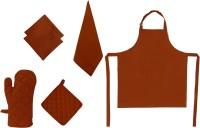 Adt Saral Brown Cotton Kitchen Linen Set Pack Of 6