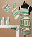 Dekor World Playing With Stripes Kitchen Linen Set - KLSDWMU9GBF6HZXZ