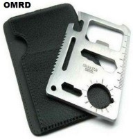 OMRD 11 In 1 Pocket Visiting Card Survival Kit Multi Tool Multi Tool (Silver)