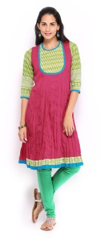 Anouk Solid Women's Flared Kurta