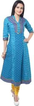 Good Things Printed Women's Anarkali Kurta