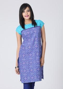 Vishudh Printed Women's Kurta Blue, Purple, White