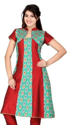 Lifestyle Lifestyle Retail Self Design Women's Anarkali Kurta (Red)