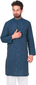 Dhrohar Striped Men's Straight Kurta