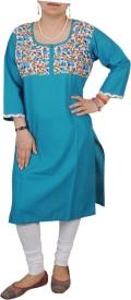 Aditi Fashions Solid Women's Straight Kurta