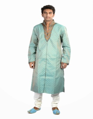 Samyakk Samyakk Solid Men's Kurta (Blue)