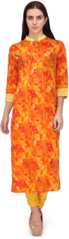 Adyana Floral Print Women's Straight Kurta