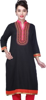 Kashish By Shoppers Stop Self Design Women's Straight Kurta