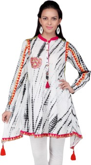Haute Curry By Shoppers Stop Self Design Women's Flared Kurta