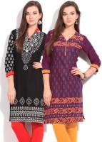 Anksh Printed Women's Kurta - Pack Of 2