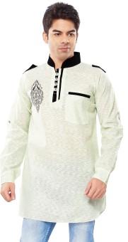 Shahana Self Design Men's Pathani Kurta - KTAE6DMBZP7KRKG6