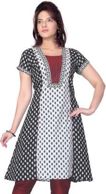 Lifestyle Lifestyle Retail Printed Women's A-Line Kurta (White)