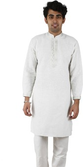 KURTA PALACE Self Design Men's Straight Kurta