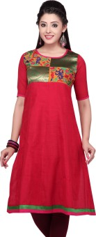 Stop To Start By Shoppers Stop Printed, Solid Women's Anarkali Kurta