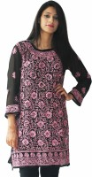 Fuchsia Designs Floral Women's Knee Length Kurta