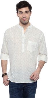 Akkriti By Pantaloons Self Design Men's Straight Kurta