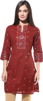 Rangmanch By Pantaloons Embroidered Women's Straight Kurta